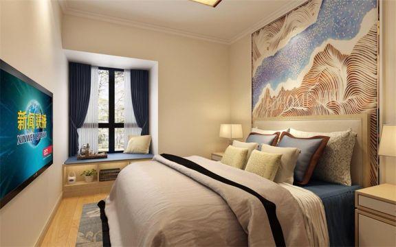卧室床日式风格效果图
