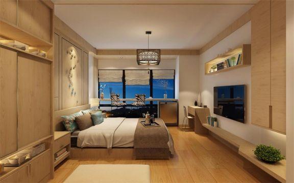 卧室地板砖日式风格装修图片
