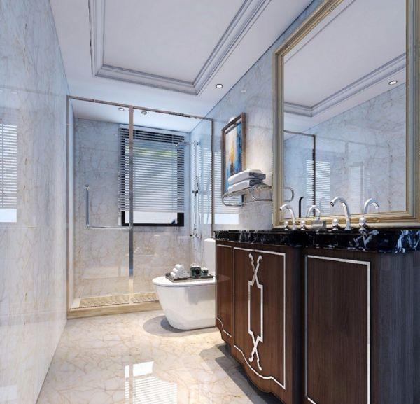 卫生间洗漱台简欧风格装修图片