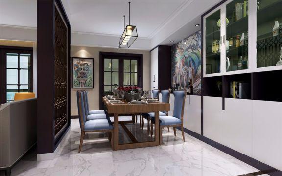 餐厅餐桌新古典风格装饰设计图片