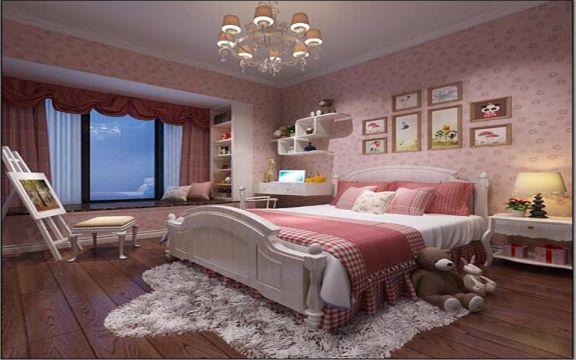 卧室床新古典风格效果图
