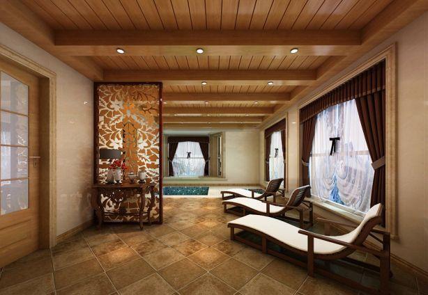 阳光房窗帘混搭风格装饰设计图片