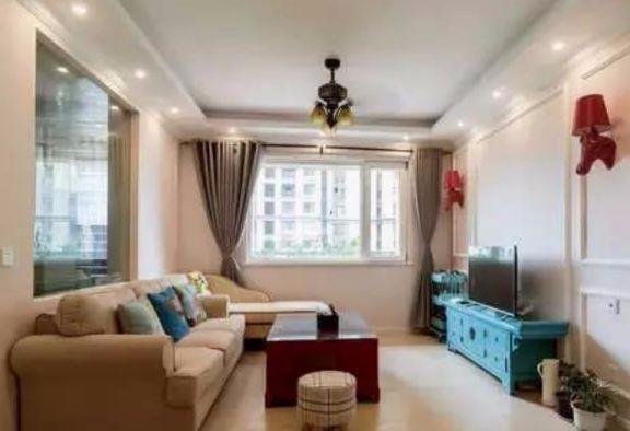 津泰新村两室两厅90平混搭风格装修效果图