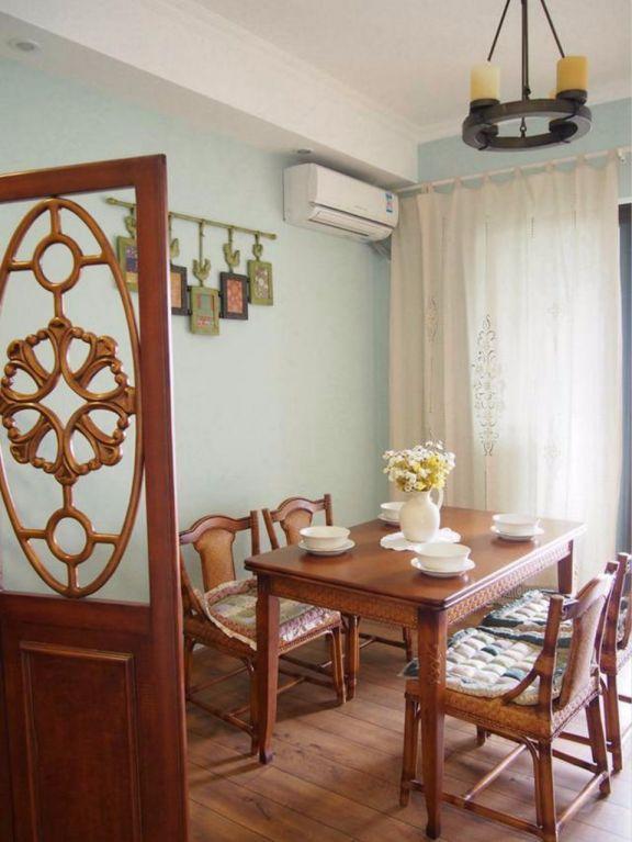 餐厅餐桌混搭风格装修图片