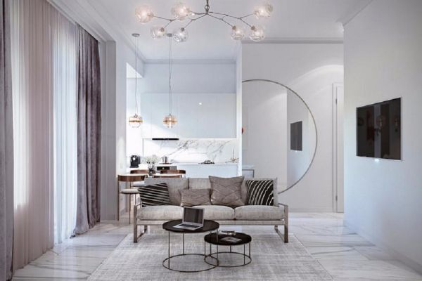 中天金海岸天骄苑98平米现代风格公寓装修效果图