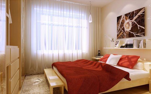 现代卧室飘窗室内装饰