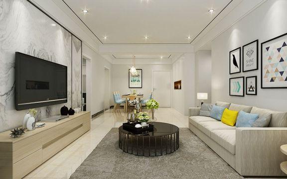 实力壹方城120平米四居室简约风格装修效果图