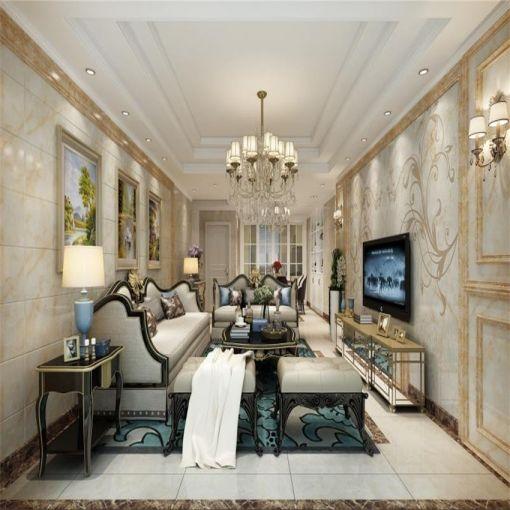 红谷十二庭138平方欧式风格3房装修效果图