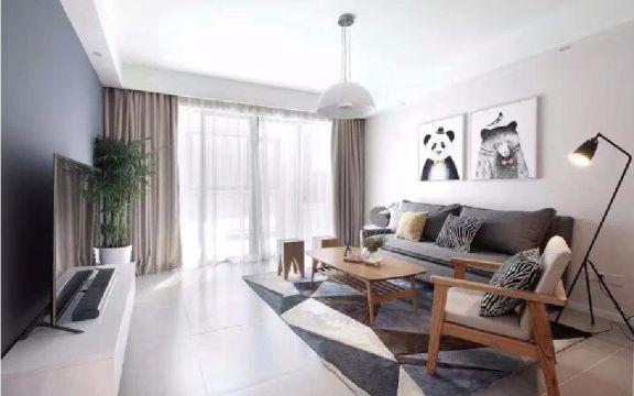 120方北欧简约二居室装修效果图