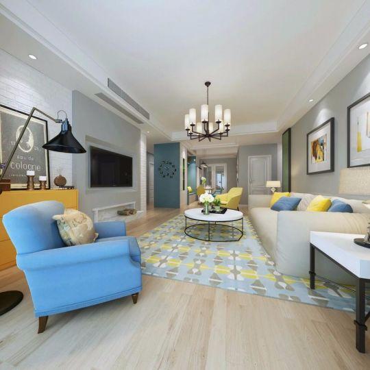 盛城世家80平方两居室北欧风格装修效果图