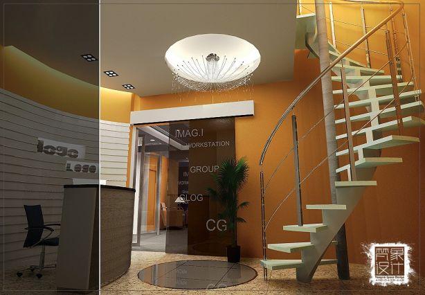 港式风格办公空间装修效果图