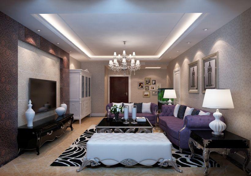 大苑海淀名著110平米简欧风格三居室装修效果图