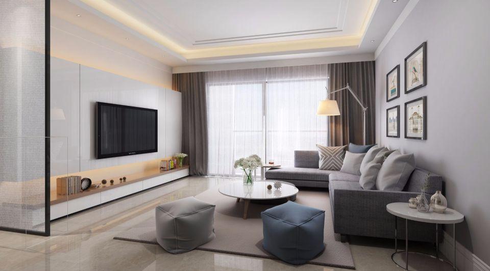 嘉裕公馆现代简约风格110平米四居室设计效果图