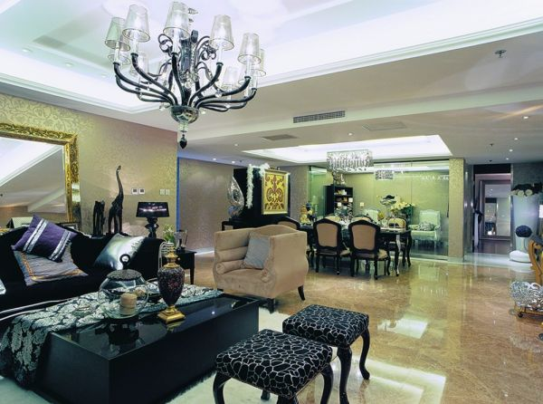 南京富力山庄140平米欧式古典风格四居室装修效果图