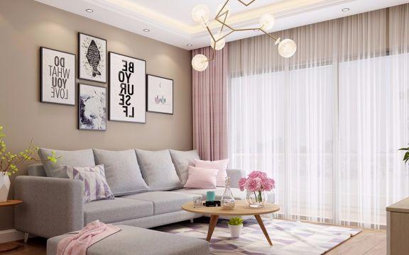 星海名城五期80平方一室一厅简约风格装修效果图