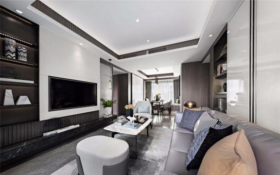 2021现代简约80平米设计图片 2021现代简约三居室装修设计图片