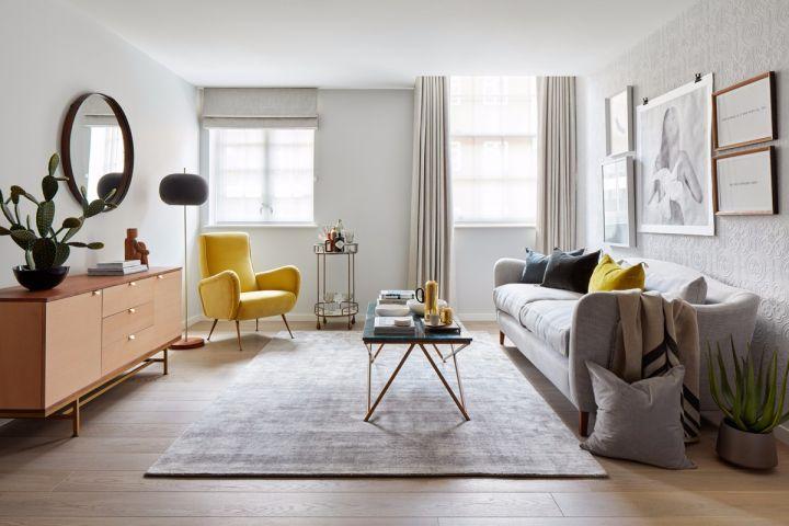 70平米两居室简欧风格案列效果图