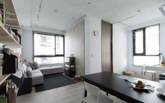 双安城一室一厅50平简约装修效果图