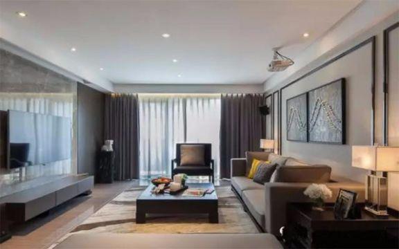 朗郡89平米新中式2室1厅装修效果图