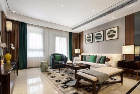 岳峰新城125平米现代中式风格套房装修效果图
