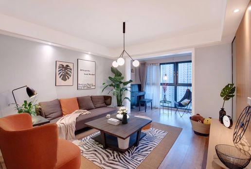 100平米简约二居室装修效果图