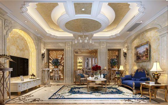 帝豪星港湾300平方别墅欧式风格装修效果图