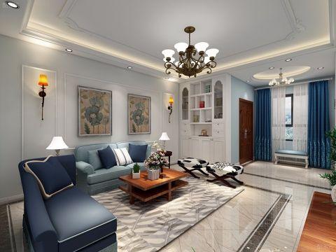 120平米三室两厅简美风格装修效果图