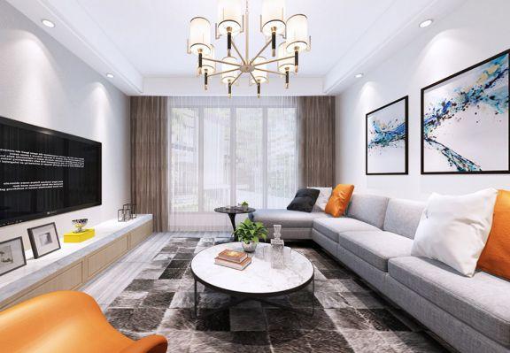 香江华庭120平方米北欧风格三居室装修效果图