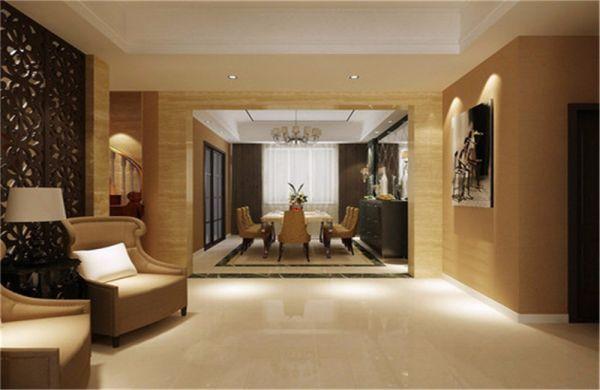 大名城140平美式三居室装修效果图