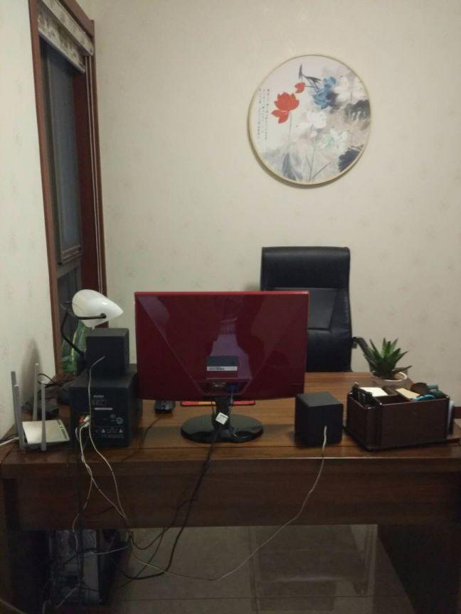 书房书桌新中式风格装修设计图片