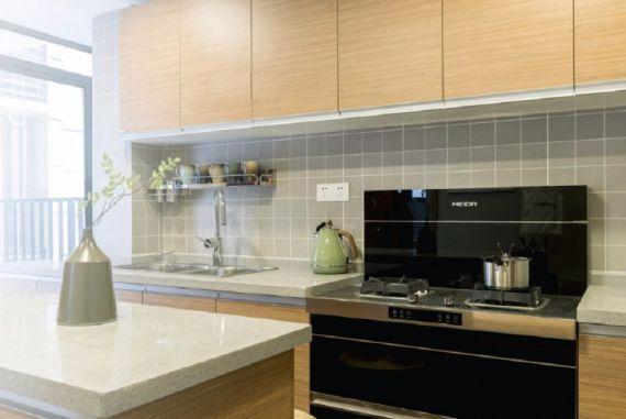设计精巧厨房墙面橱柜图片