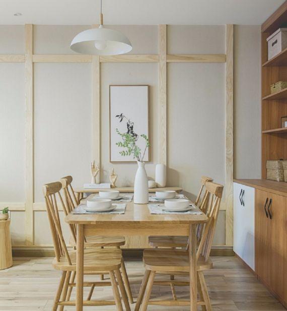 餐厅餐桌日式风格装修效果图