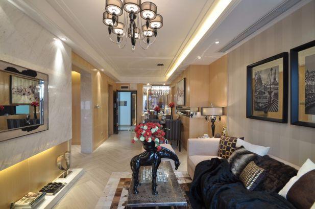 昊天园117平米简欧风格三居室装修效果图