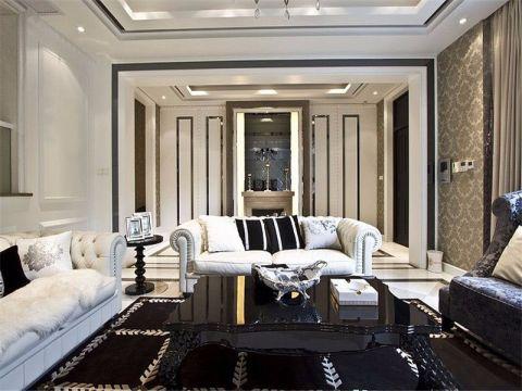 90平米欧式风格二居室装修效果图