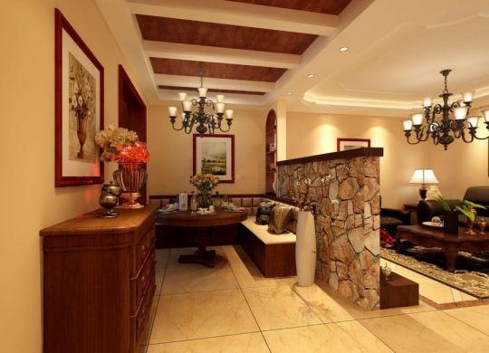 融创星美御143平美式风格三居室装修效果图