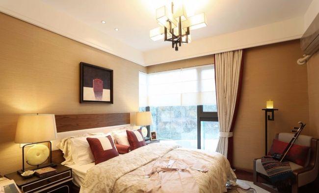 卧室飘窗新中式风格装潢设计图片