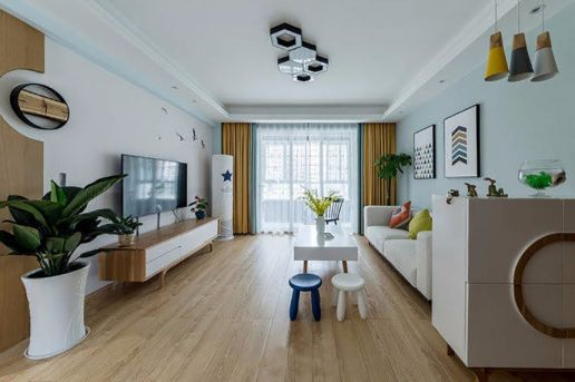 90平米现代简约风格二居室装修效果图