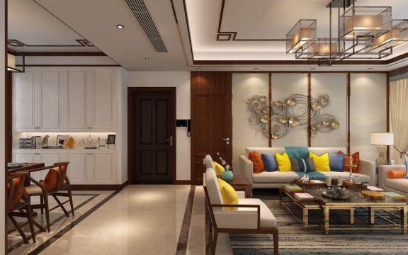 玄关鞋柜新中式风格装潢设计图片