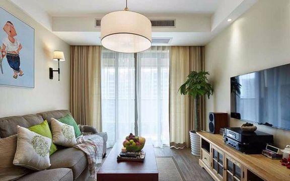 赞成杭家96平米现代风格三居装修效果图