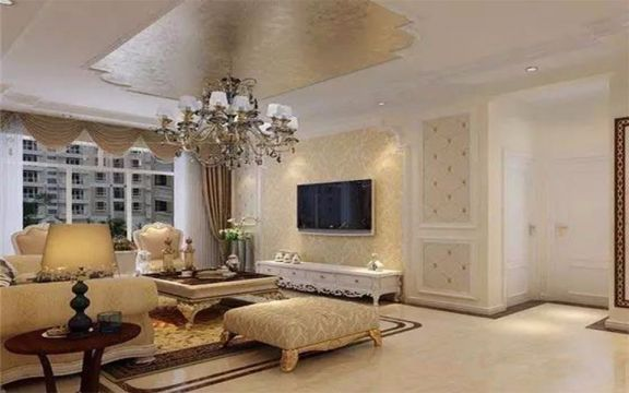 客厅沙发古典风格装潢效果图