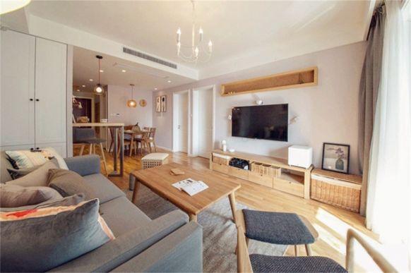 极地盛世名都85平米现代简约风格二居室装修效果图