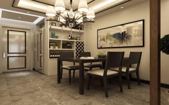 餐厅餐桌现代简约风格装修图片
