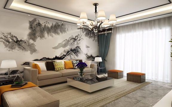 君汇华府现代简约风格三居室160平米装修效果图