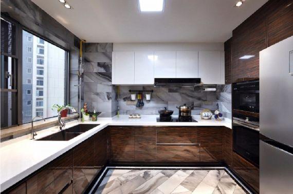 现代厨房墙面橱柜装修