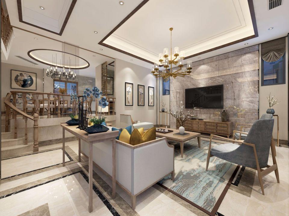 300平新中式风格别墅装修效果图