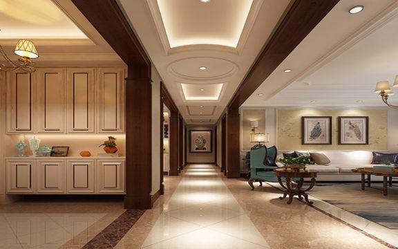 万科城220平方六居室美式风格装修效果图