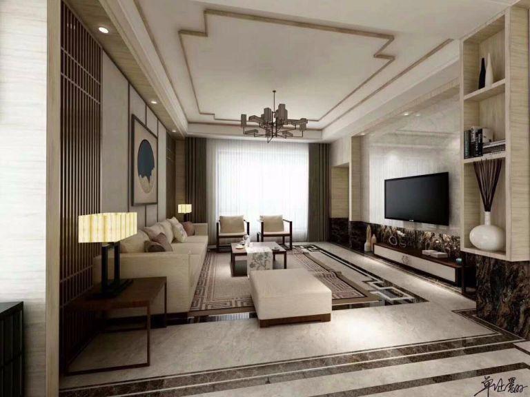 2019新中式客厅装修设计 2019新中式沙发装修图