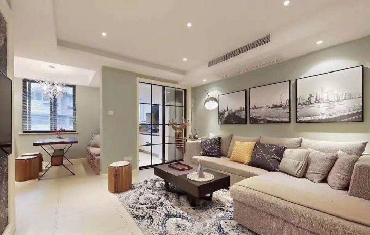 2019简约客厅装修设计 2019简约沙发装修图