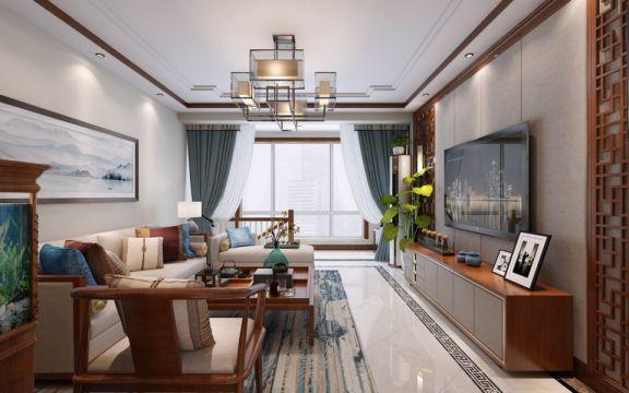 新中式风格191平米复式室内装修效果图