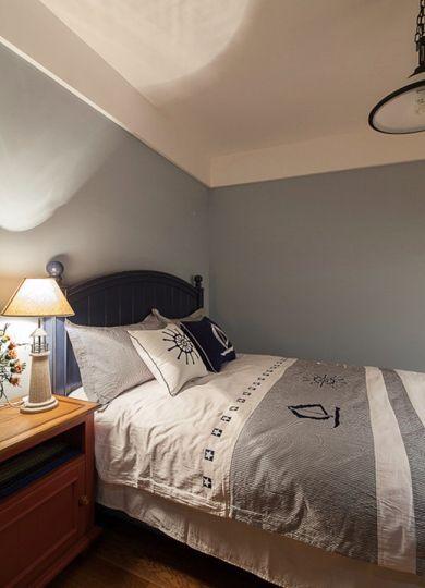 卧室蓝色背景墙设计图欣赏